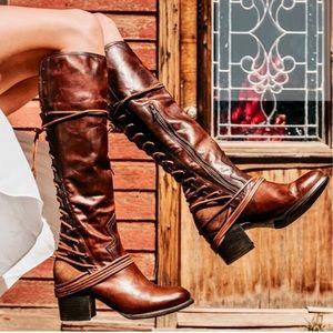 freebird lace up coal boots
